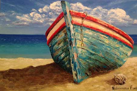 Nezdiymynoga: Csónak a parton