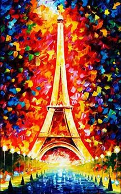 Eiffel torony megvilágítva