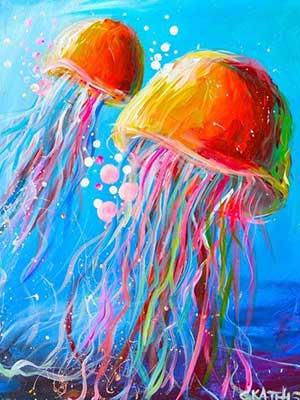 Medúza világító élményfestés