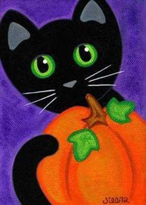 Halloween macska élményfestés