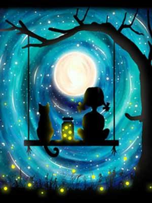 Holdfényben élményfestés