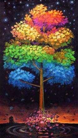 Színes fa élményfestés